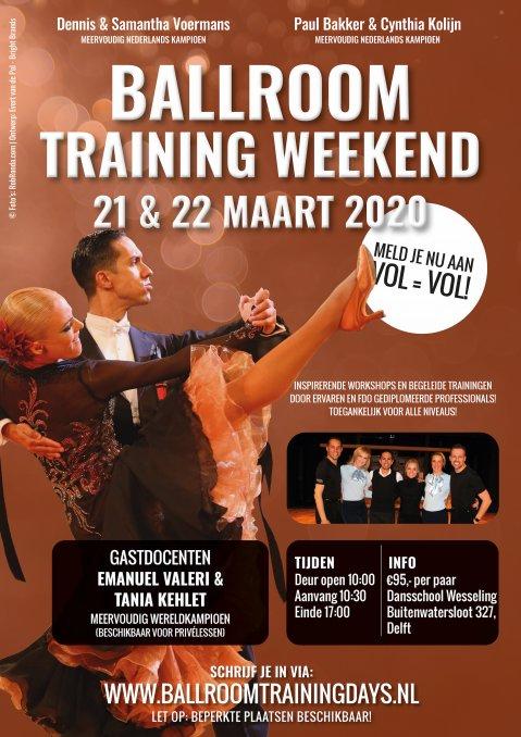 Ballroom Training Weekend 21 & 22 maart 2020